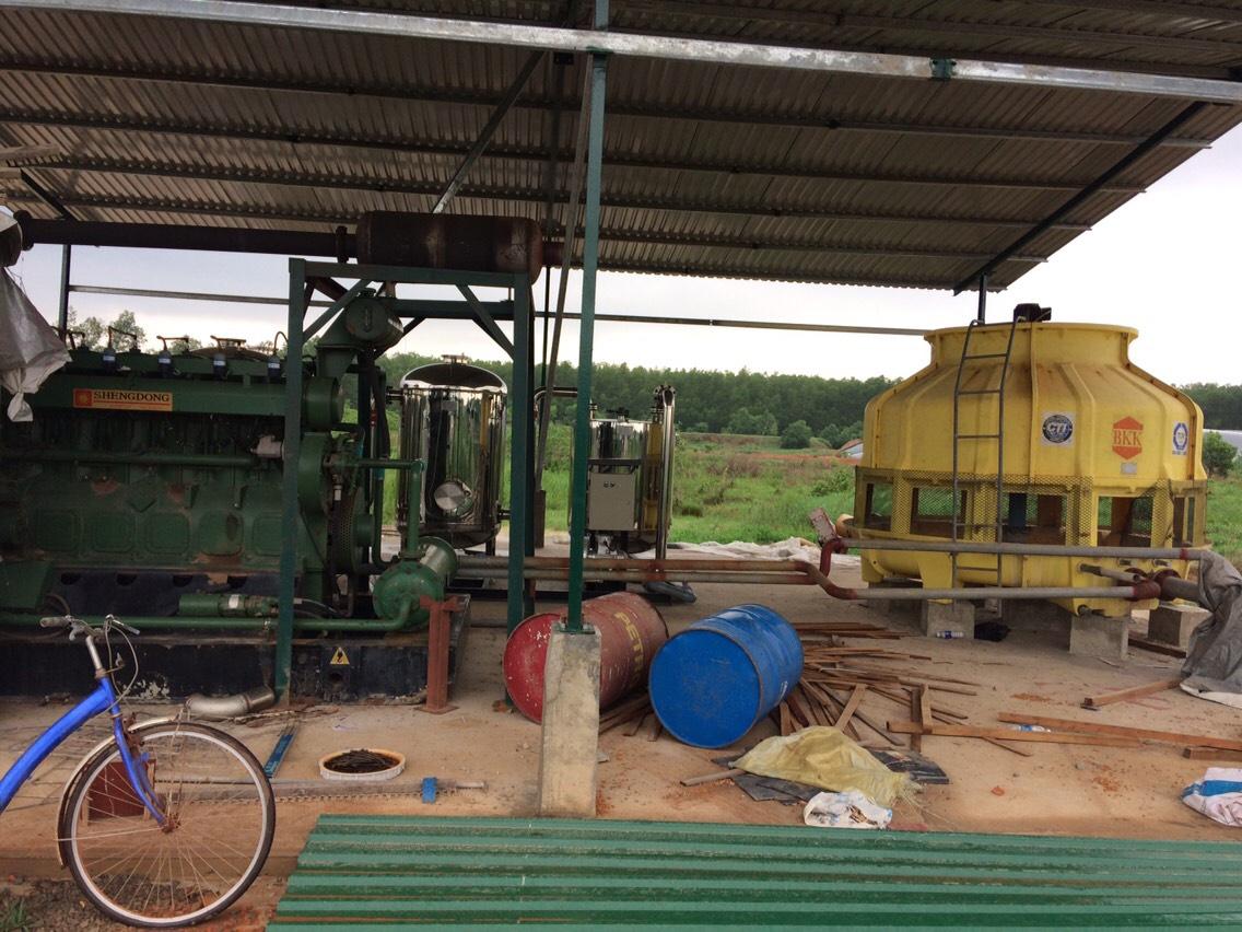 lắp máy phát điện chạy khí biogas tại trại heo Cty quốc tế Velmar